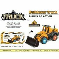 Mainan Truk Buldoser Bulldozer Truck Lampu Musik