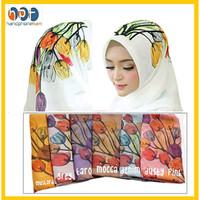 Hijab Kerudung Segi empat Bella Square Jilbab Motif Bunga Diamond