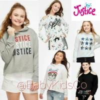 SWEATER JUSTICE ANAK PEREMPUAN GIRL KIDS BRANDED SWEATER HOODIE BAJU