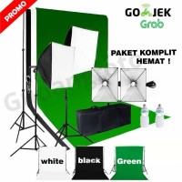 Background Lighting lampu mini studio foto mini box green white black