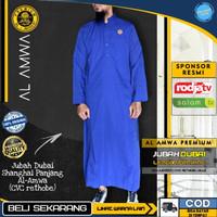 Baju Jubah Gamis Sholat Muslim Laki Pria Original AL AMWA TDA-JU00005 - Blue, S