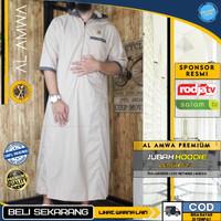 Baju Jubah Gamis Hoodie Sholat Muslim Pria Original AL AMWA TDA-JU0006