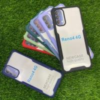 Case Spigen Acrylic Transparan List Warna Oppo Reno 4 Versi Indo