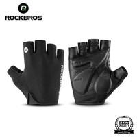 Sarung Tangan Sepeda RockBros Gloves Half Finger Gel Black Original - XL