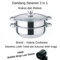 Dandang Steamer Panci Kukus Stainless 28-Steamer Pan