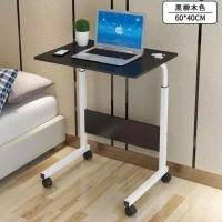 Meja Laptop Portable Roda Serbaguna /Meja Belajar Lipat - Biru