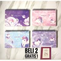 Buku agenda weekly planner unicorn