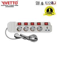 VETTO Stop Kontak MS-3 (5L) - MS3/1,5M Multi Socket Outlets