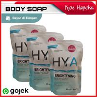HYA BRIGHTENING BODY SOAP/SABUN PEMUTIH BADAN/SABUN MANDI PENCERAH 80g