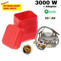 Kompor Lipat / kompor mini camping / kompor ultralight 3000W + adaptor
