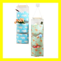 Pouch Rak Gantung Storage Bag Box Cantol Cosmetic Pouch HP dll 3 Sekat - PERALATAN DAPUR