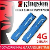 RAM KINGSTON HYPER X FURY GAMING LONGDIMM DDR3 8GB (4GB*2) PC 12800