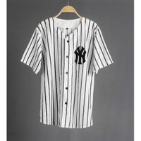 JERSEY BASEBALL / Baju Baseball NY salur white 03 - WARNA 01, L