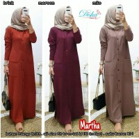 Martha dress maxidress bahan kaos