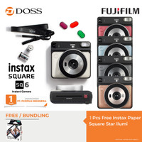 FUJIFILM INSTAX SQUARE SQ6 Instant Film Camera (Pearl White) - Pearl WHITE