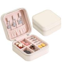 Kotak Penyimpan Perhiasan Jewerly Box Anting & Kalung K278 - K275 Cream