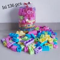 Mainan Lego Mr Block 136 Pcs Edukasi - Brick Anak Jumbo Edukatif Main