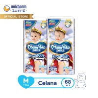 MamyPoko Pants Royal Soft - M 34 Unisex - Popok Celana - 2 Packs