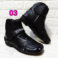 Sepatu Motor Touring Sepatu Balap Drag Sepatu Biker Pendek Sepatu Pria