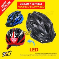 Helm Sepeda Bicycle Road Bike Helmet LED Backlight Lampu Belakang PVC