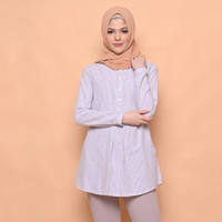 Cammomile blouse atasan wanita 1904080 - Blue V2, S
