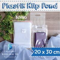 PLASTIK KLIP POND 20X30 CM / PLASTIK ZIPLOCK / PLASTIK BAJU