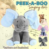 Peek A Boo Elephant Gajah Doll Singing peek-a-boo peekaboo boneka - BEAR