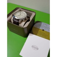 Jam Tangan Pria Fossil TOWNSMAN CHRONOGRAPH BROWN LEATHER FS5350