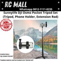 DJI Osmo Pocket Tripod Phone Holder Extension Rod Stick Set Tongsis