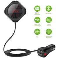 Handsfree Bluetooth Audio Receiver FM Transmitter with USB Car Charger