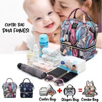 MULTIFUNGSI COOLER DIAPER BAG 2in1 TAS ASI