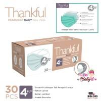 Thankful Masker Dewasa 4 Ply Isi 30 Pcs Headloop Daily Face Mask