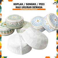 Songko / Peci Putih Bordir All Size