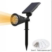 Lampu sorot solar taman tancap dan dinding spotlight lamp 2w-4led