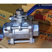 "kran air ball valve sankyo 3pc stainless steel 1"" (inch) kon:drat/SW"