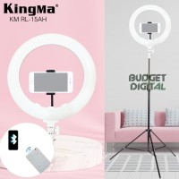 LED Ring Light Kingma 15 Inch Support Bluetooth Remote + Stand