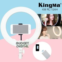 LED Ring Light Kingma 15 Inch Support Bluetooth Remote Connect Phone