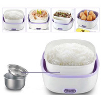 Rice Cooker Mini Penanak Nasi Masak Beras Dapur 2 susun + Egg Boiler