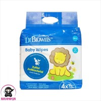 DR BROWNS Baby Wipes Xylitol Antibacterial 4 x 25 s