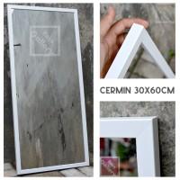 Kaca Cermin Gantung Frame Minimalis , dinding, Makeup, Kamar mandi. - Merah