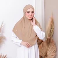 Bergo Elif Standar By Amily / Amilyhijab / Jilbab Instan / Bergo tali - MOCCA, Standar