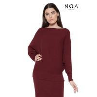 NOA everyday Blouse Wanita Atasan Rajut Wanita Kaneen Sabrina knitted