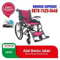 kursi roda apollo merk avico alluminium bisa goes sendiri - Abu-abu