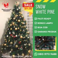 BEST SELLER Pohon Natal Premium SNOW WHITE PINE TREE 7FT 2 Meter 7 FT