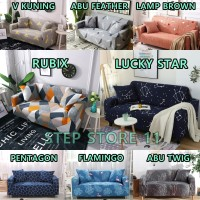 Cover Sofa Bed Import Elastis 1 2 3 Seater Dudukan Sarung Penutup Sofa