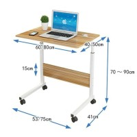 Meja Laptop Portable Roda Meja Belajar Lipat Serbaguna Nunukprima524