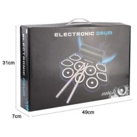 Portable Roll Up Drum Pad Set Kit Md760 Built-In Speaker Support Midi
