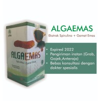 Kapsul ALGAEMAS - Ekstrak Spirulina + Gamat Emas