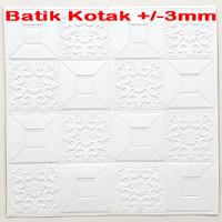 Wallpaper Dinding 3D Foam 70 x 70 cm Motif Batik