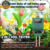 Alat Pengukur Kelembaban Tanah 3 in 1 Soil Moist PH Detector Analyzer